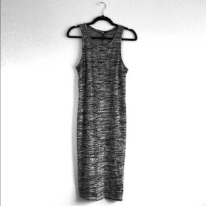 Black and Gray Cotton On Dress